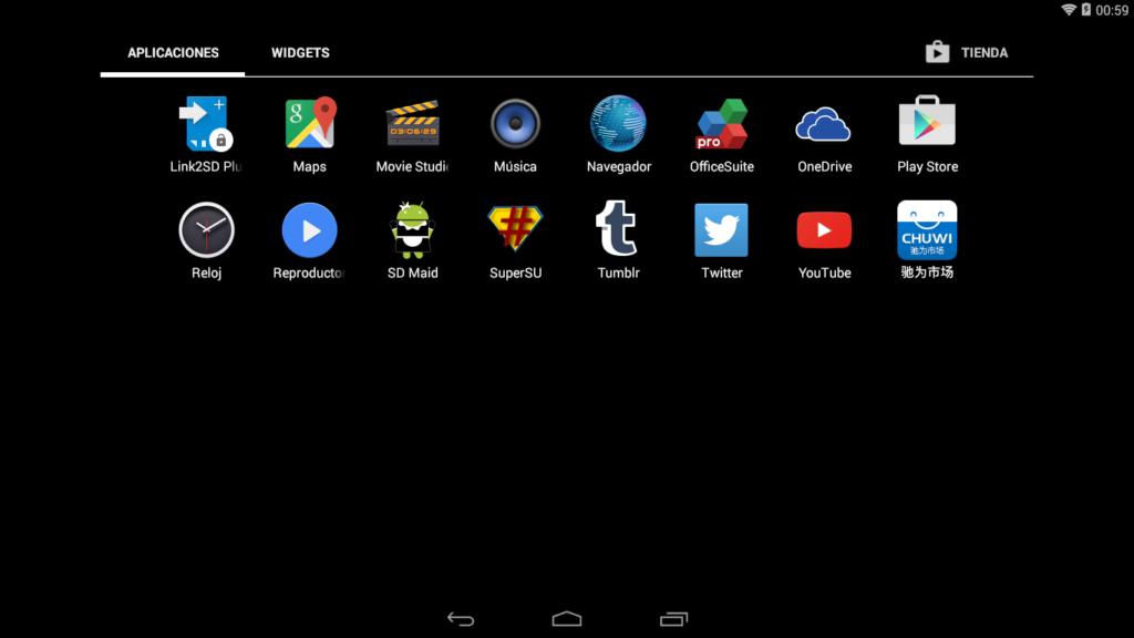 """Captura de la tableta donde se aprecia la aplicación """"SuperSU"""" instalada (para dar privilegios root a las aplicaciones)"""
